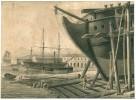 [DESSIN AU LAVIS D'ENCRE / SCENE DE VIE D'ARSENAL VERS 1800]..