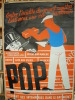 Parti Ouvrier Populaire. POP. Affiche électorale..