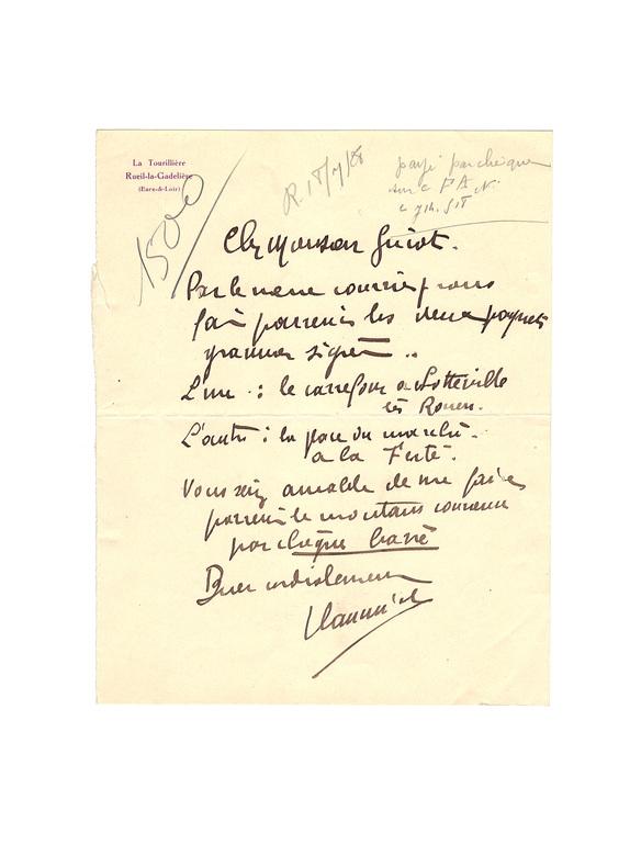. VLAMINCK (Maurice de) (1876-1958)