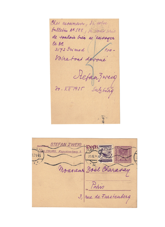 . ZWEIG (Stefan) (1881-1942)