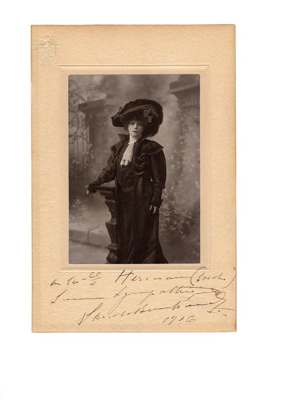 . BERNHARDT (Sarah) (1844-1923)
