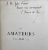 Les Amateurs d'autrefois. Huit portraits gravés à l'eau-forte. Paris, Plon, 1877.. CLEMENT DE RIS L.