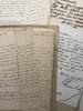 Portefeuille ayant appartenu à Auguste Geffroy,  rassemblant une cinquantaine de pièces manuscrites et imprimées : Articles, papiers et lettres ...