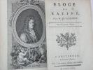 Eloge de Racine. A Amsterdam, et se trouve à Paris, chez Lacombe, 1772. RELIE AVEC (à la suite) : 2). FARMIAN DE ROSOI (B.). Dissertation sur ...