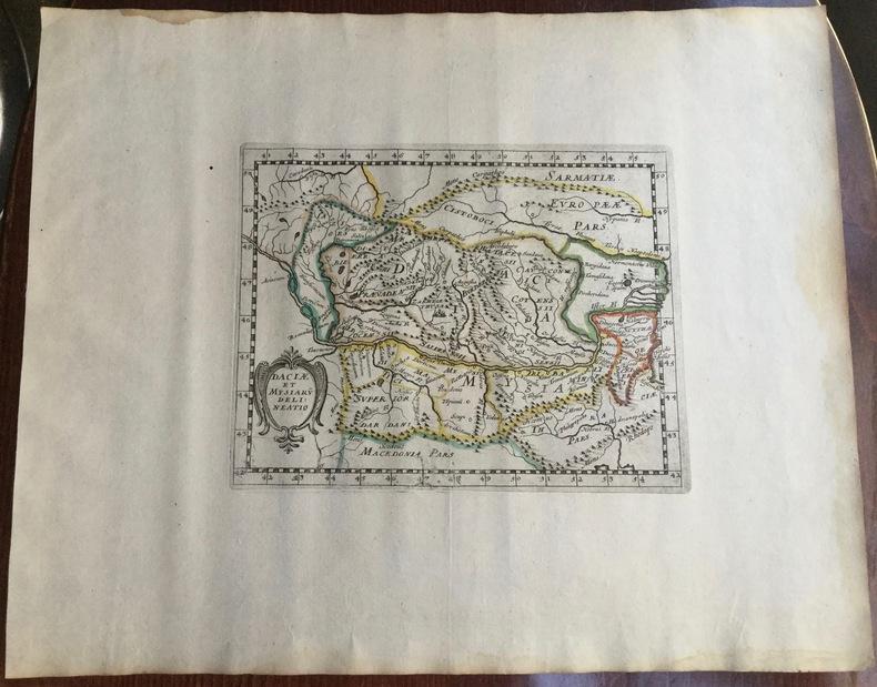 DACIAE ET MYSIARU(M) DELINEATIO. Theatrum geographique Europae veteris. Carte de la Dacie ancienne. . Briet (Philippe)