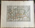Gallia Transpadana. Theatrum geographique Europae veteris. Carte de la Gaule cisalpine ancienne. . Briet (Philippe)