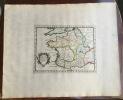 GALLIAE DIVISIO SECUNDUM NOTITIAM IMPERI. Theatrum geographique Europae veteris. Carte de la Gaule ancienne. . Briet (Philippe)