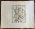 Carte de l'Aquitaine ancienne. Theatrum geographique Europae veteris.. Briet (Philippe)