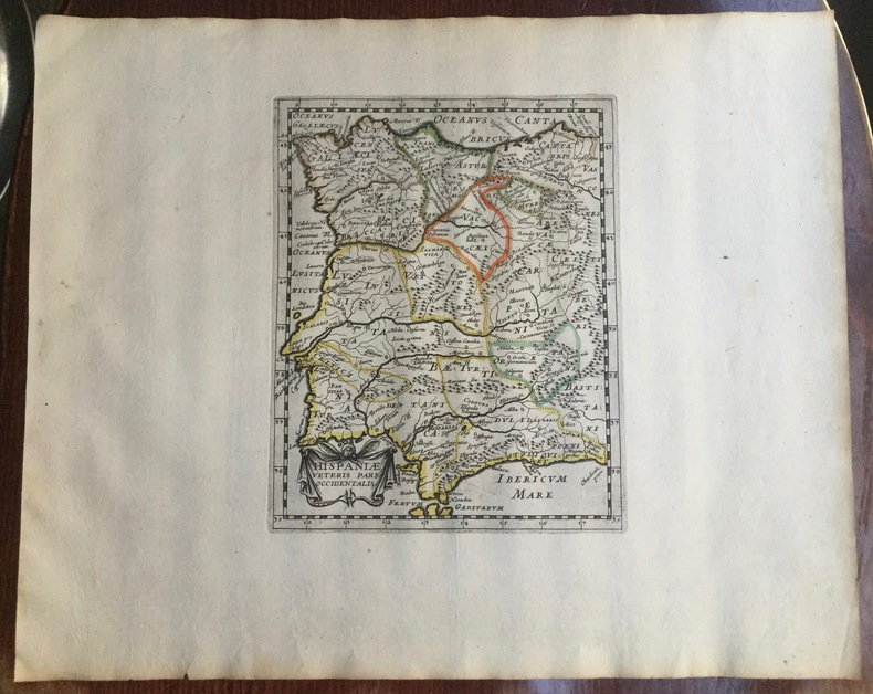 HISPANIAE VETERIS PARS OCCIDENTALIS. Theatrum geographique Europae veteris. Carte de l'Espagne ancienne. . Briet (Philippe)