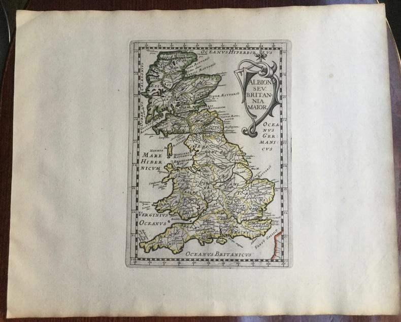 ALBION SEV BRITANNIA MAIOR. Theatrum geographique Europae veteris. Carte de l'Angleterre ancienne. . Briet (Philippe)