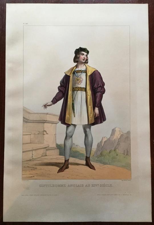 Gentilhomme anglais du XIVe siècle. Devéria (Achille)
