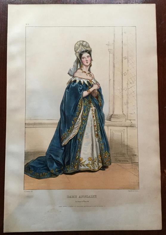 Dame anglaise du temps de Henri VIII. Devéria (Achille)