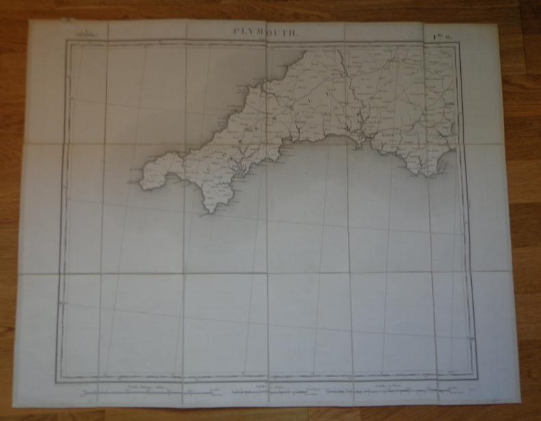 Carte géographique de Plymouth et sa région, 1852. Collectif