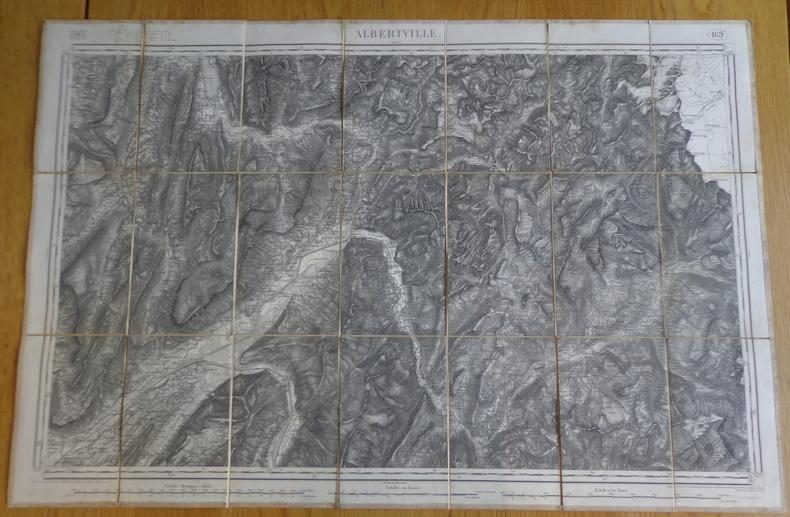 Carte géographique d'Albertville et de ses environs, 1875. Collectif