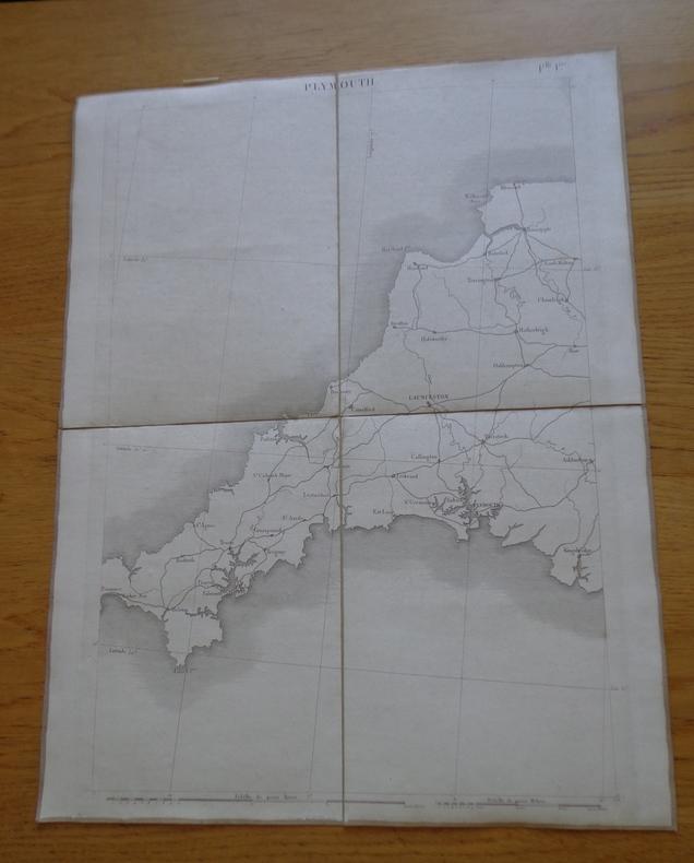Carte géographique de Plymouth et sa région. Collectif