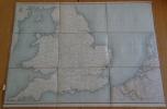 Carte géographique de l'Angleterre, le nord de la France, la Belgique. Collin