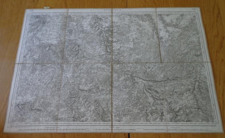 Carte géographique d'Issoudun et ses environs, 1847. Collectif