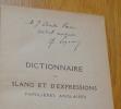 Dictionnaire de slang et d'expressions familières anglaises. Legras (Charles)