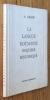 La langue roumaine. Esquisse historique. . Graur (A.)