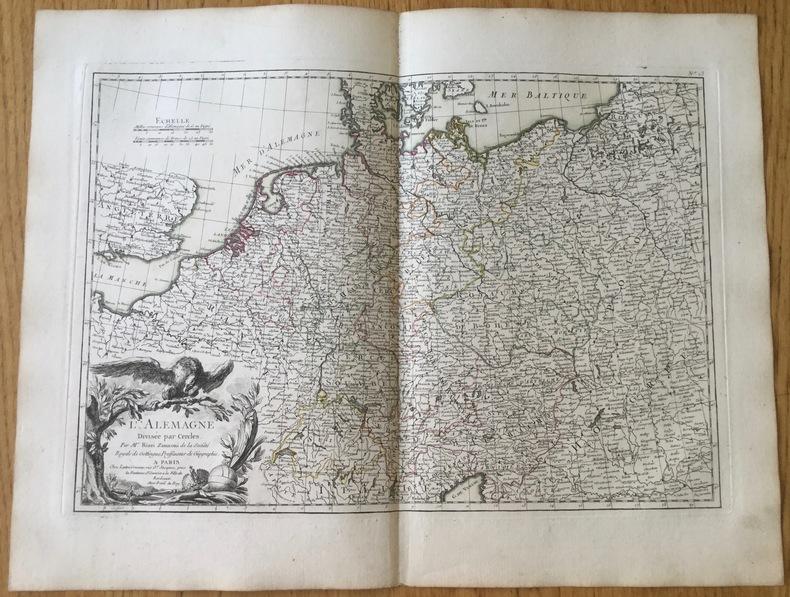 L'Alemagne (Allemagne) divisée par Cercles.. Zannoni (Rizzi)