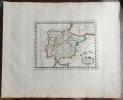 HISPANIAE NOVA DIVISIO. Theatrum geographique Europae veteris. Carte de l'Espagne ancienne. . Briet (Philippe)