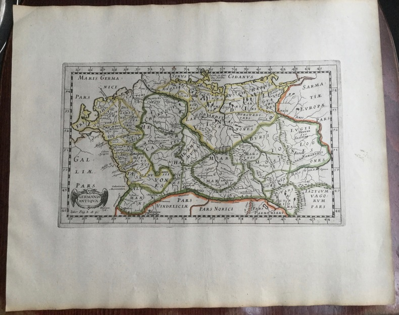GERMANIA ANTIQUA.  Theatrum geographique Europae veteris. Carte de l'Allemagne ancienne. . Briet (Philippe)