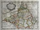 GALLIA BELGICA. Theatrum geographique Europae veteris. Carte de la Belgique ancienne.. Briet (Philippe)