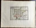 HISPANIA VETUS. Theatrum geographique Europae veteris. Carte de l'Espagne ancienne.. Briet (Philippe)