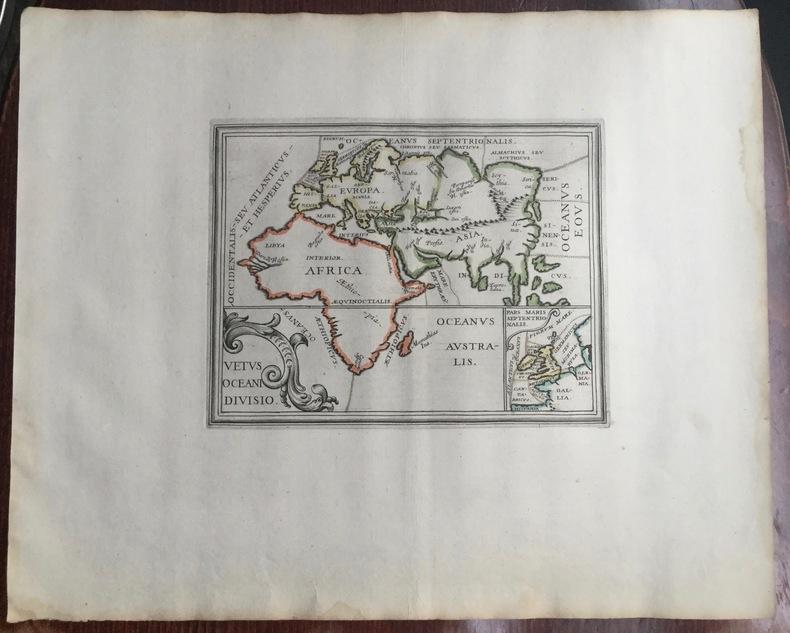 Vetus Oceani divisio. Theatrum geographique Europae veteris. Europe, Afrique et océans dans le monde ancien. . Briet (Philippe)