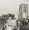 Gravure du Château des papes, Avignon, Provence, XIXe. Chapuy et Jacottet