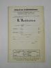 L'Initiation. Cahiers de Documentation Esotérique Traditionnelle. Revue fondée en 1888 par Papus. Nouvelle série. 42e année, n° 1 ...