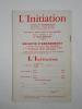 L'Initiation. Cahiers de Documentation Esotérique Traditionnelle. Revue fondée en 1888 par Papus. Nouvelle série. 46e année, n° 2 (Avril-Mai-Juin ...