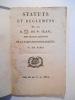 Statuts et règlemens de la R.L. de St-Jean, sous le titre distinctif de la Parfaite Intelligence, O:. de Paris.. COLLECTIF,