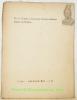 L'eau de la dixième milliaire (pages sur Rome). N° 120 - Cahiers Aujourd'hui - X. 32.. CINGRIA, Ch. A.