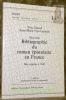 Bibliographie du roman épistolaire en France des origines à 1842. 2e Edition entièrement révisée et augmentée. Collection Seges. Neue Folge - Nouvelle ...