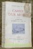 Cahiers d'un artiste, deuxième série. Novembre 1914 - juin 1915.. BLANCHE, Jacques-Emile.