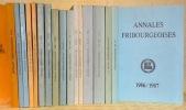 Annales Fribourgeoise. Publication de la Société d'Histoire du Canton de Fribourg. 1913-2013. Collection complète..