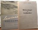 AVALANCHES / LAUWINEN.Météorologie et avalanches. Armée suisse. 1942.Lauwinen die Gefahr für Skifahrer, ohne Jahr (ca. 1950). .