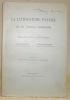 La littérature patoise de la Suisse romande. Bibliographie analytique.. GAUCHAT, L. - JEANJAQUET, J.