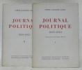 Journal politique 1939-1943. 2 volumes. Collection Histoire et société d'aujourd'hui.. CIANO, Comte Galeazzo.