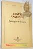 Ernest Ansermet. Catalogue de l'oeuvre.. MATTHEY, Jean-Louis.