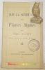 Sur la nutrition des plantes alpines.. JARRIN, Albert.