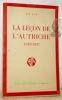 La leçon de l'Autriche. (1919-1937).. LUX, P. T.