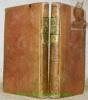 Lettres sur l'Italie, en 1785. Nouvelle édition, corrigée avec soin et ornée de figures. Tome premier et deuxième (manque le tome 3).. DUPATY.