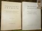 Tkalcicev zbornik. Zbornik radova posvecenih sedamdesetgodisnjici. 2 volumes.. TKALCICA, Vladimira.