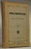 Journal Forestier Suisse. Organe de la Société des Forestiers Suisses.1902, 53me Année, No 1 à 12.. DECOPPET, M.