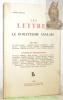Les Lettres. Poésie - Philosophie - Littérature - Critique. Tome II. Cahier Spécial Cinq et Six. Le Romantisme Anglais. Textes de Lord Byron, Samuel ...