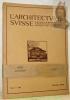 L'ARCHITECTE SUISSE. Organe officiel de la Fédération des architectes suisses.Année 1915, 12 numéros complets..