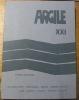 ARGILE XXI.Hiver 1979-1980.Du Bouchet - Reynard - Daive - Kibedi Varga - Lam - Tâche - Yeats - Racine - Silent..