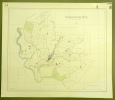 Commune de Rue. Plan d'ensemble. Levé par E. Pochon.Carte topographique 5.000. Format  75x65cm..